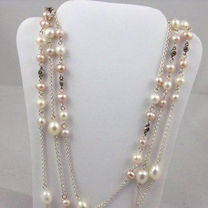 "Pearl Necklace - 48"" Long"